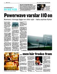 Powerwave varsel 1